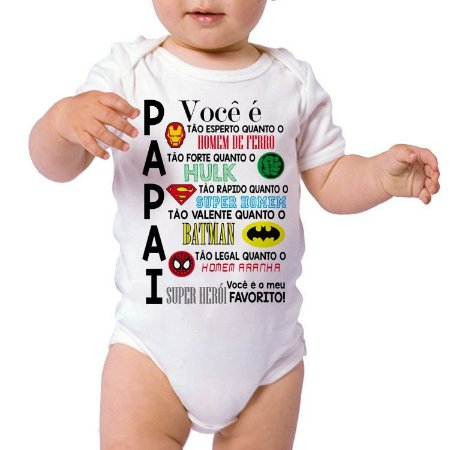 Body ou Camiseta Personalizada - Papai herois