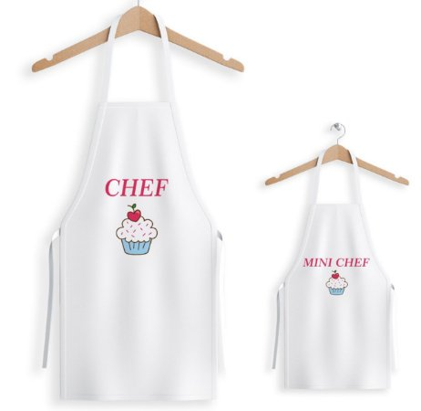 Kit de 2 Aventais Mini Chef