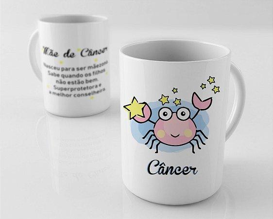 Caneca em Porcelana - Mãe de Signo de Cancer