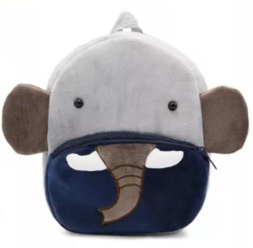 Mochila Infantil de Pelúcia Elefante