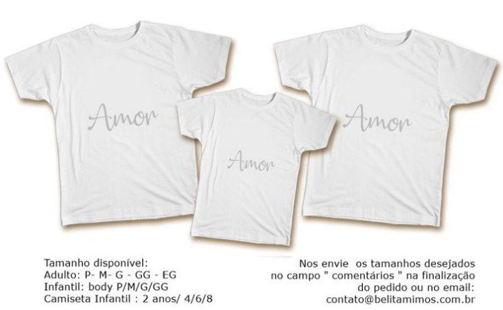 Kit Camiseta Ano Novo - Amor Prata