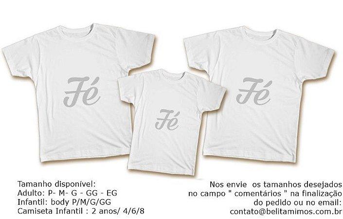 Kit Familia de Camisetas de Ano Novo- Fé Prata