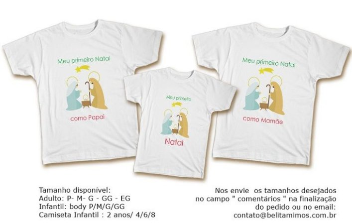 Kit Familia de Camisetas de Natal