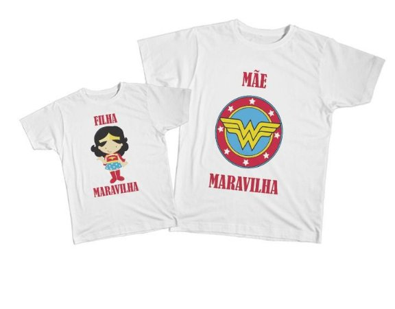 Kit camiseta e Body Tal Mãe, Tal Filha - Mãe Maravilha