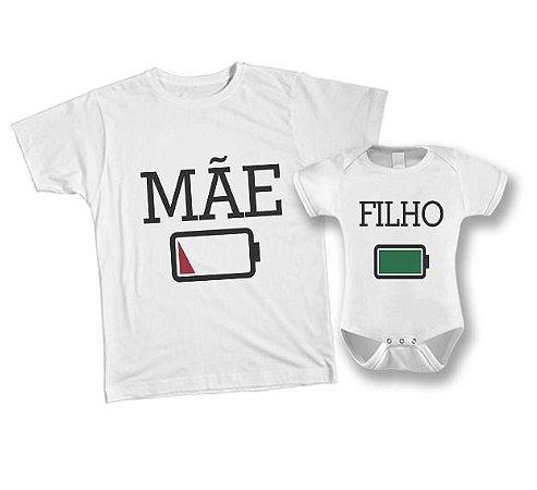 Kit camiseta e Body Tal Mãe, Tal Filho - Bateria