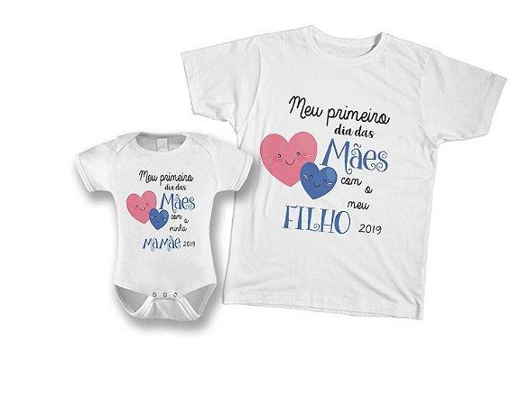 95f84607146db4 Kit camiseta e Body Tal Mãe, Tal Filho - Meu primeiro dia das Mães com meu  Filho 2019