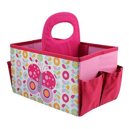 Caixa Organizadora de Brinquedos com Alça - Borboleta