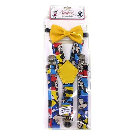 Suspensórios Infantil Mickey Mouse Colorido