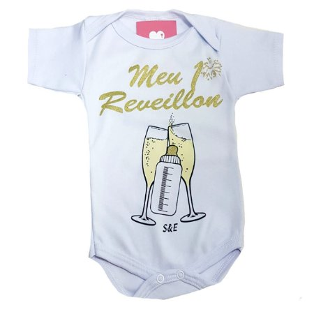 Body de Bebe de Ano Novo -Meu primeiro Reveillon