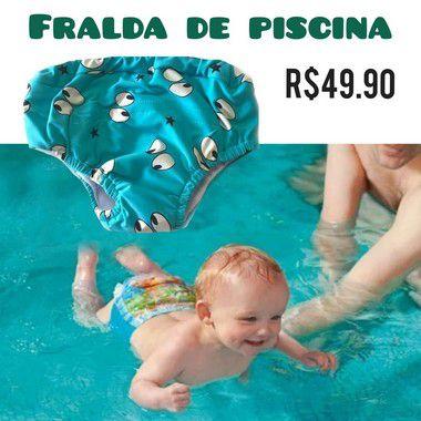 Fralda de Banho Piscina e Mar Reutilizável e Ecológica Neutra- Proteção solar FPU 50+