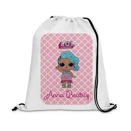 Mochila saco Personalizada - Boneca LOl