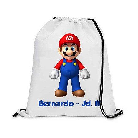 Mochila saco Personalizada - Mario