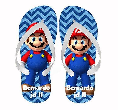 Chinelo Personalizado com nome - Mario