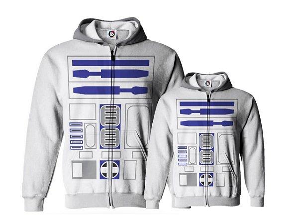 Kit Casaco Moletom Star Wars R2D2 - Tal Pai tal Filho (a) Tal mãe tal Filho (a)