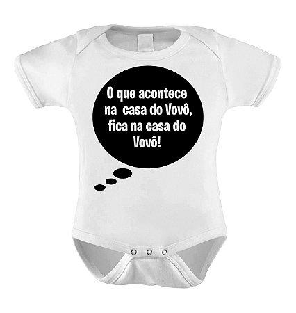 Body ou Camisetinha - O que acontece na casa do Vovô fica na casa do vovô!