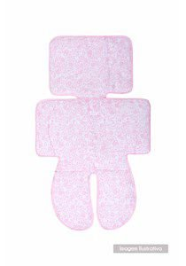 Capa Para Carrinho E Cadeirinha Composê Papi- Floral rosa