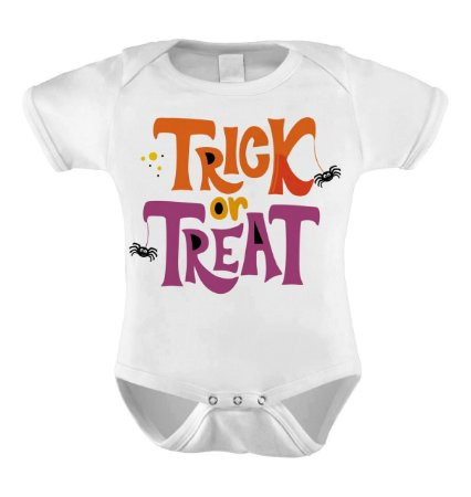 Body Meu Primeiro Halloween -  trick or treat