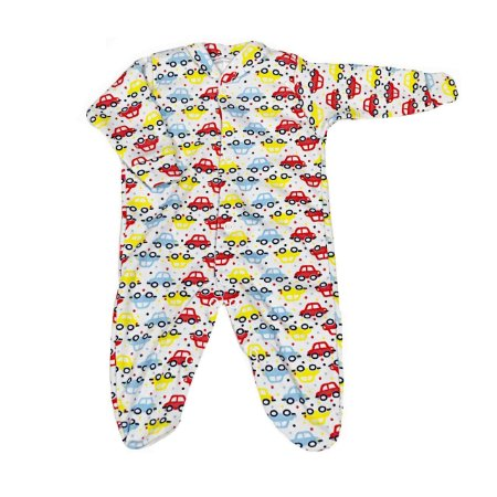 Macacão Bebê Prematuro Suedine Manga Longa - Carrinho