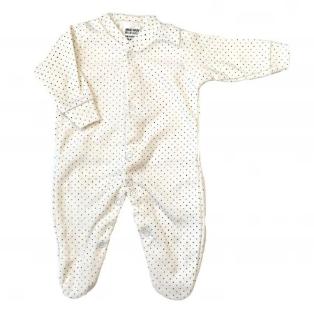 Macacão Bebê Prematuro Suedine Manga Longa - Poá Bege