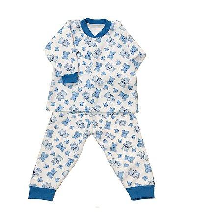 Pijama de Soft Infantil Ursinho Azul
