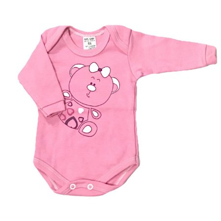 Body Bebê Manga Longa Ursinha Gigi