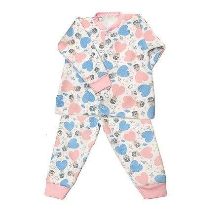 Pijama de Soft Infantil Balãozinho Rosa