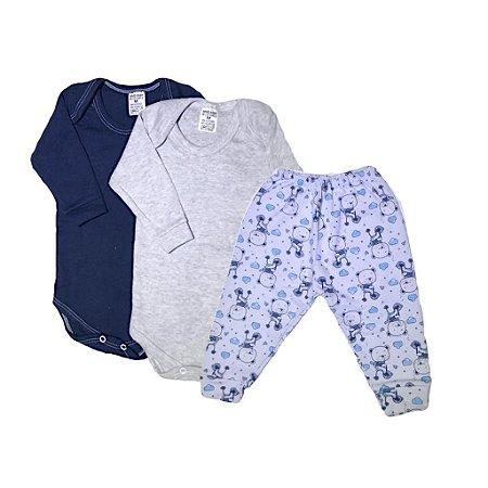 Kit Body Bebê 3 Peças Ursinho Teddy