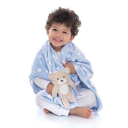 Manta Soft Microfibra Infantil Ursinho Loani