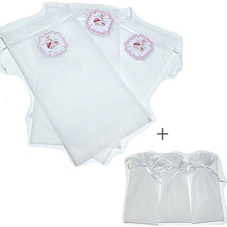 Saquinhos de maternidade -6 unidades de menina ( 3 unidades com tag + 3 reserva)