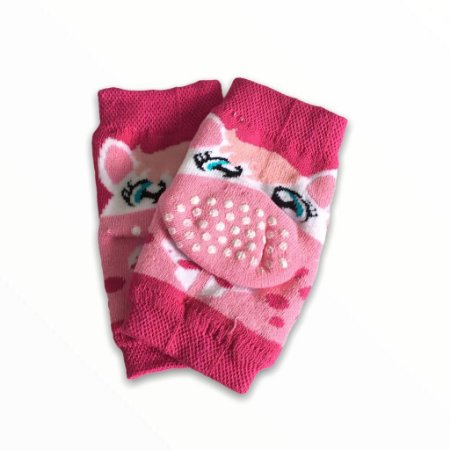 Joelheira Antiderrapante Infantil Bebê Pink - 5 a 12 meses