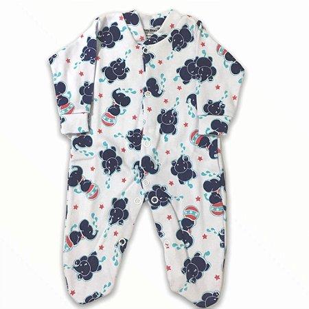 Macacão Bebê Prematuro Suedine Manga Longa - Circus