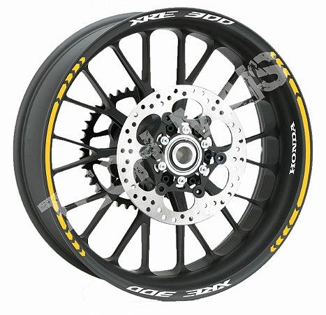 Fita de Roda Friso de Roda Refletivo Honda XRE 300 2 cores varios modelos Frete Grátis