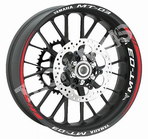 Fita de Roda Friso de Roda Refletivo Yamaha MT-03 Orbital + Logo de Borda