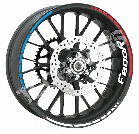 Fita de Roda Friso de Roda Refletivo BMW F800R abstrato triplo com logo de borda F800 R Frete Grátis