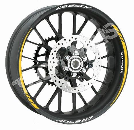 Fita de Roda Friso de Roda Refletivo Honda CB650F Orbital