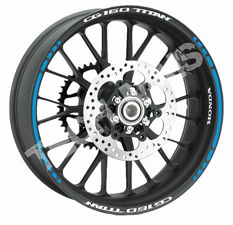 Fita de Roda Friso de Roda Refletivo Honda CG160Titan Direcional