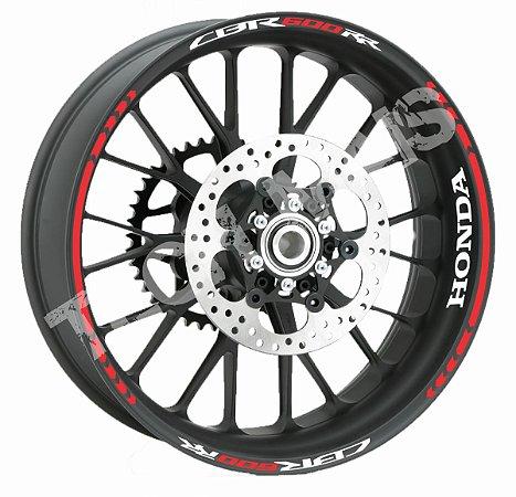 Fita de Roda Friso de Roda Refletivo Honda CBR600RR Direcional Borda
