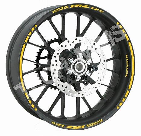 Fita de Roda Friso de Roda Refletivo Honda Biz 125 Direcional