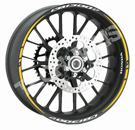 Fita de Roda Friso de Roda Refletivo Honda CB1300SF Orbital Duplo