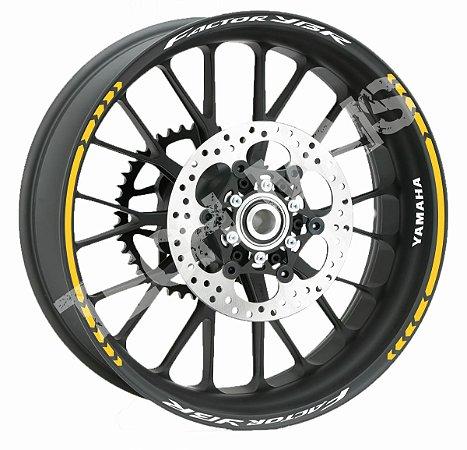Fita de Roda Friso de Roda Refletivo Yamaha Fazer Factor YBR Direcional