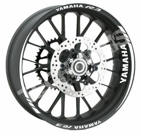 Fita de Roda Friso de Roda Refletivo Yamaha R3 Orbital Borda