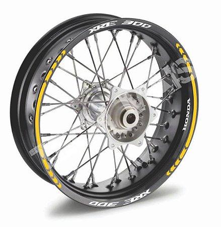 Fita de Roda Friso de Roda refletivos XRE 300 XRE300 modelo Direcional frete grátis todo o Brasil