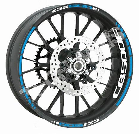 Fita de Roda Friso de Roda Refletivo Honda CB500F Abstrato Borda