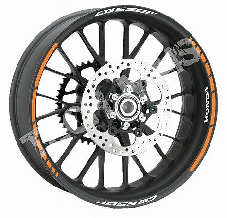 Fita de Roda Refletiva Friso de Roda Refletivo Honda CB650F