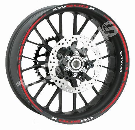Fita adesivo de Roda Friso de Roda Refletivo Honda CB500X