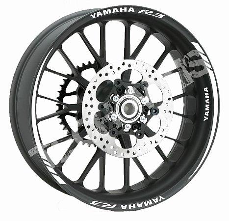 Fita de Roda Friso de Roda Refletivo Yamaha R3