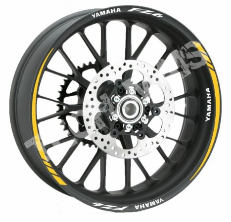 Fita de Roda Friso Refletivo Personalizado Yamaha FZ6