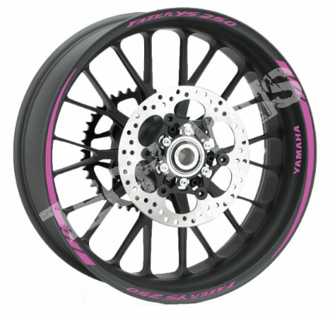 Fita de Roda Refletiva Friso Refletivo Personalizado Yamaha fazer YS 250 Rosa
