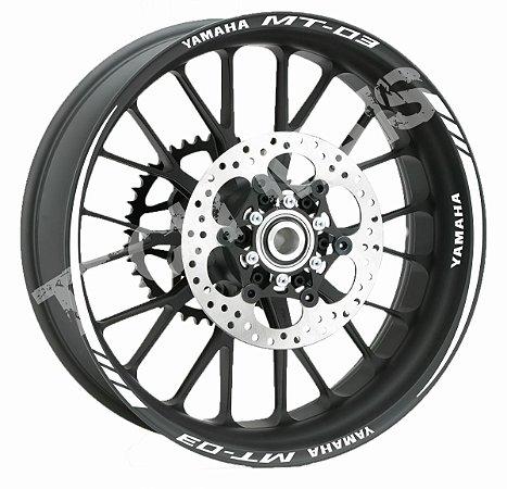Fita de Roda Refletiva Friso de Roda Refletivo Yamaha MT - 03