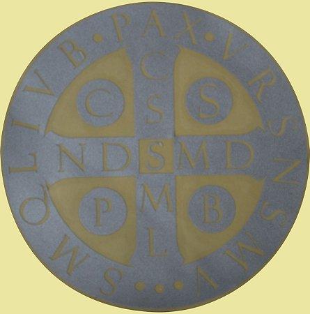 Adesivo Refletivo Medalha de São Bento 10x10cm
